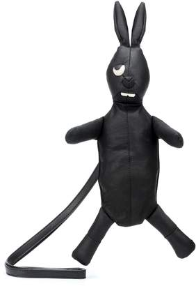 Rick Owens Monster Rabbit leather clutch