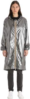 K-Way K Way R&d Xavier Silver Laminated Raincoat