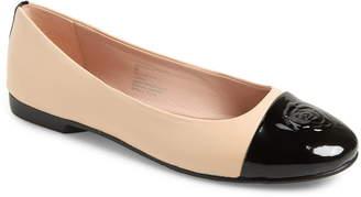 Taryn Rose Collection Adrianna Cap Toe Skimmer Flat