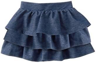 Crazy 8 Crazy8 Knit Denim Ruffle Skirt