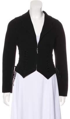 Ermanno Scervino Zip-Up Cashmere Jacket