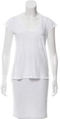 A.L.C. Scoop Neck Short Sleeve Top