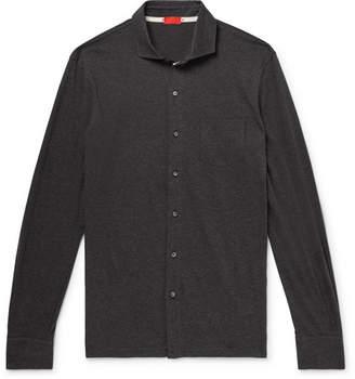 Isaia Slim-Fit Mélange Cotton Shirt