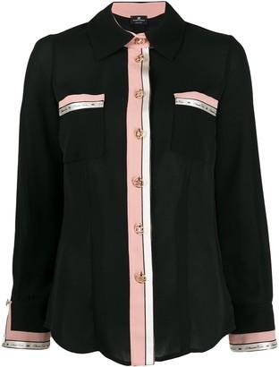 Elisabetta Franchi contrast-trimmed shirt