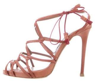 Tabitha Simmons Leather Ankle Strap Sandals