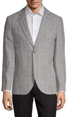 Tailorbyrd Loze Mountain Plaid Lightweight Linen Cotton Jacket