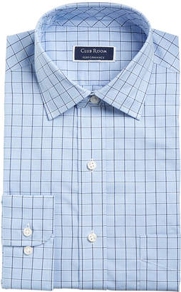 Club Room Men Classic/Regular Fit Performance Windowpane Dress Shirt