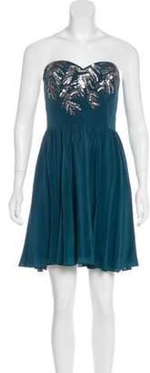 Rebecca Taylor Beaded Silk Dress