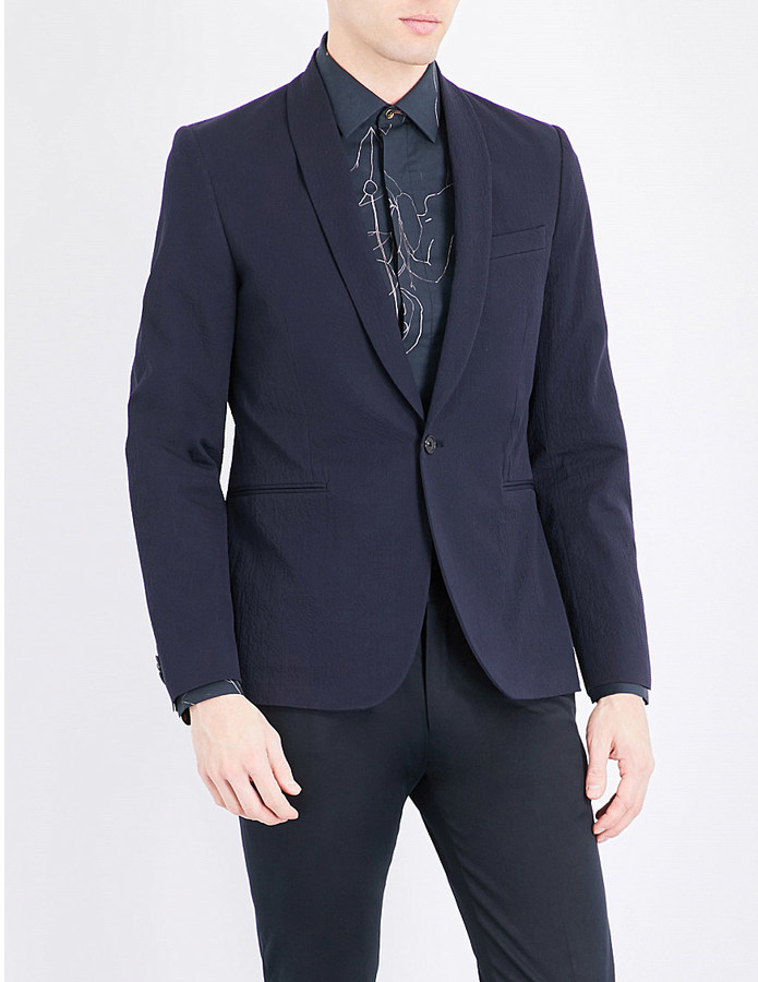 Paul SmithPaul Smith Textured regular-fit wool blazer