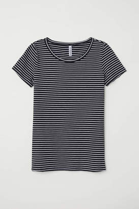 H&M T-shirt - Black/white striped - Women