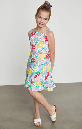 BCBGMAXAZRIA Tropical Floral Cutout Sundress
