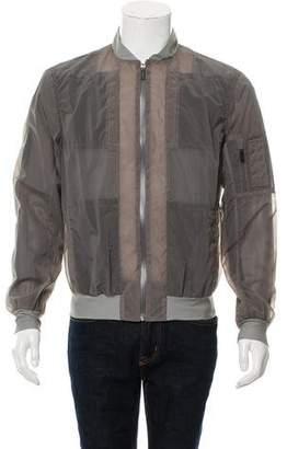 Calvin Klein Collection Sheer Bomber Jacket