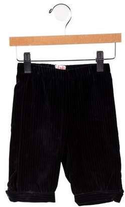 Il Gufo Boys' Velvet Pinstripe Pants