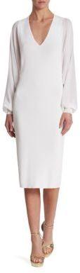Ralph Lauren Collection Long Sleeve V-Neck Dress