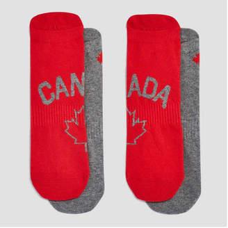 Joe Fresh Men's 2 Pack Canada Back Tab Sport Socks