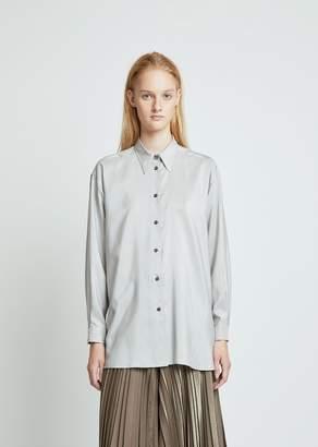 Dusan Dušan Silk Stripe Shirt