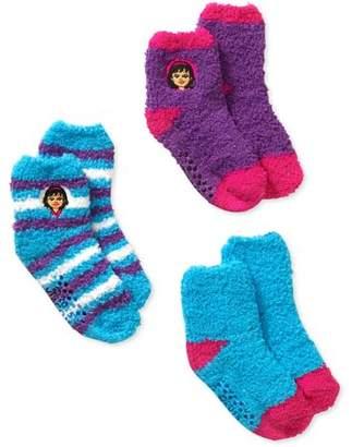 Dora the Explorer and Friends BabyToddler Girl Quarter Softee Socks - 3 Pack