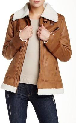 Rachel Rachel Roy Faux Shearling Lined Faux Suede Jacket $180 thestylecure.com