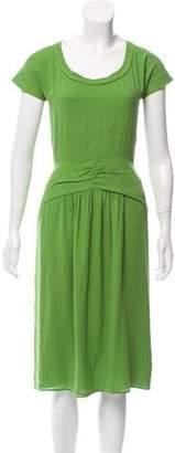 Burberry Chiffon Midi Dress
