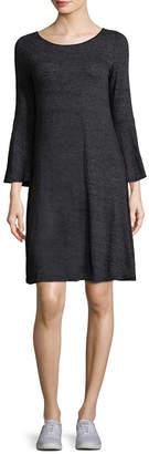 Three Dots Jersey Flutter Dress