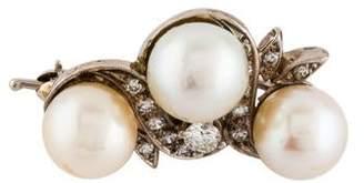 14K Pearl & Diamond Enhancer Pendant