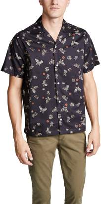 Saturdays NYC Canty Lacquer Butterfly Short Sleeve Shirt