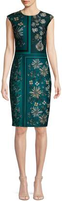 Vince Camuto Floral-Print Sheath Dress