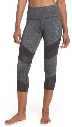 Zella Live In Electric Mix Power Mesh Crop Leggings