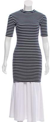Alexander Wang Striped Bodycon Tunic