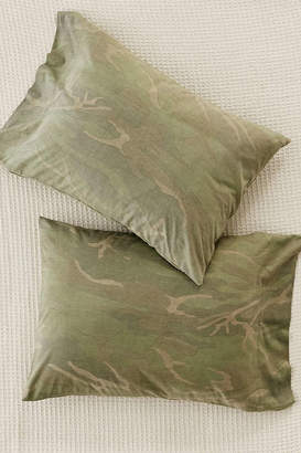 Urban Outfitters Camo Jersey Pillowcase Set