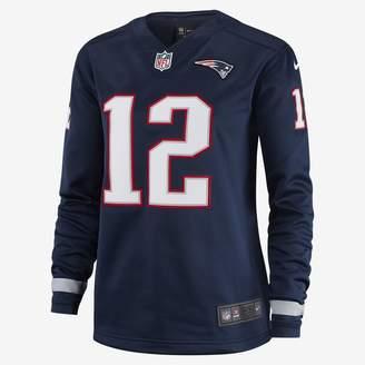 Nike NFL New England Patriots Jersey (Tom Brady) Women's Long-Sleeve Football Jersey