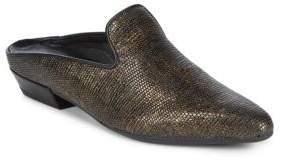 The Flexx Sisley Snake-Embossed Leather Mules