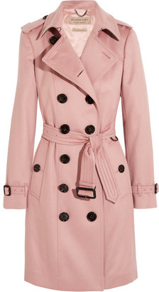 Burberry - The Sandringham Cashmere Trench Coat - Blush $2,895 thestylecure.com