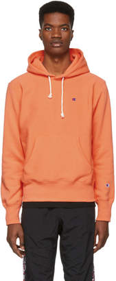 Champion Reverse Weave Orange Logo Hoodie