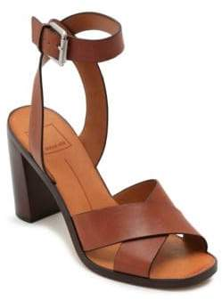 Dolce Vita Nala Ankle-Strap Leather Sandals