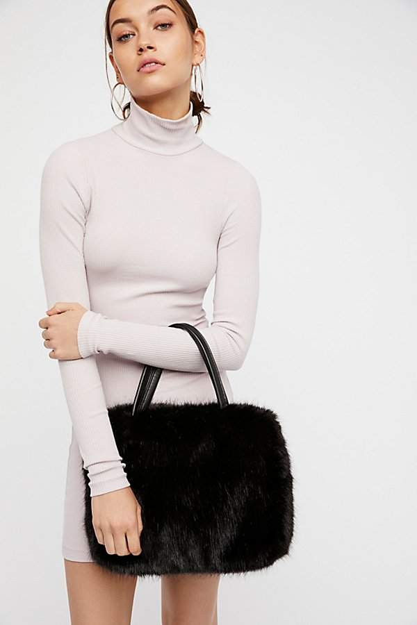 Rosa Faux Fur Tote by Free People