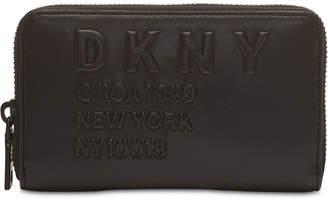 DKNY 10018 Logo Zip Around Wallet