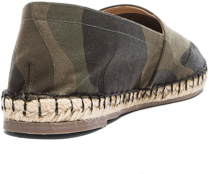 Valentino Camouflage Canvas Espadrilles in Brush Wood