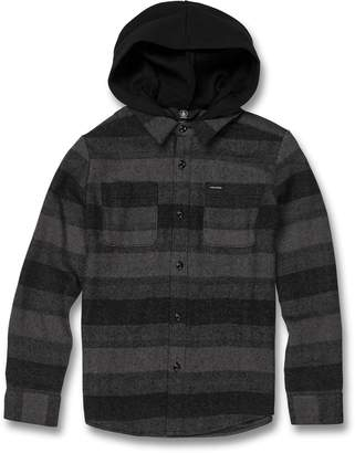 Volcom Tone Stone Hooded Button-Up Shirt