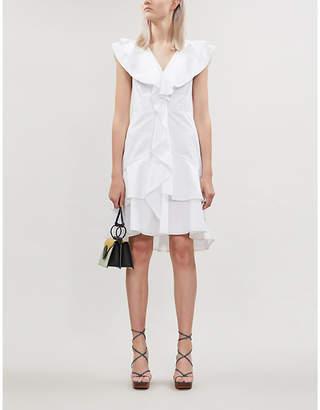 Peter Pilotto Ruffled cotton-jersey mini dress