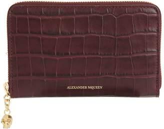 Alexander McQueen Embossed Skull Zip-Around Wallet