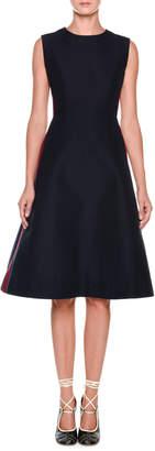 Marni Sleeveless Side-Stripe Cady Dress