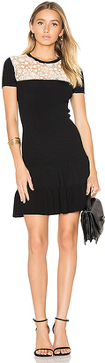 Red Valentino Short Sleeve Drop Waist Mini Dress in Black $750 thestylecure.com