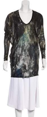 Helmut Lang Printed Long Sleeve Top