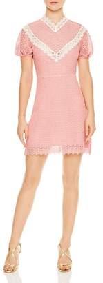 Sandro Gavin Lace Mini Dress