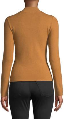 Few Moda Varsity Zip-Front High-Neck Sweater