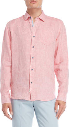 Perry Ellis Long Sleeve Linen Shirt