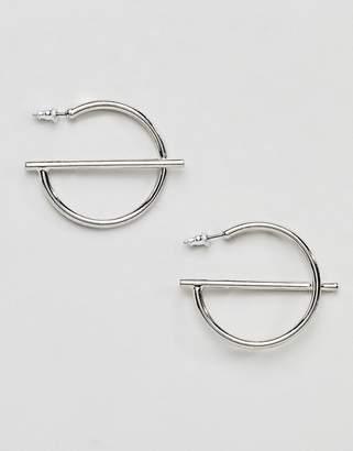 Missguided Circle Hoop Earrings