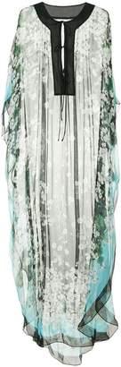 Dolce & Gabbana white geranium printed kaftan