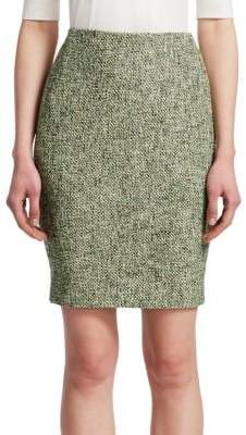 Akris Punto Tweed Pencil Skirt
